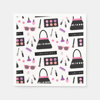 Fashionista Makeup Fashion Show Birthday Party Disposable Napkin