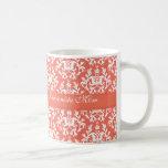 Fashionista Mum damask emberglow trendy mug