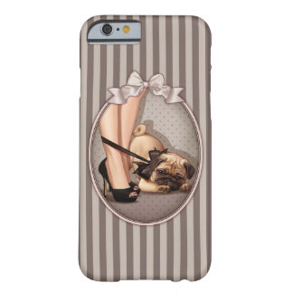 Fashionista & Pug Puppy Barely There iPhone 6 Case