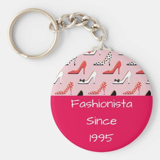 Fashionista since High Heels Pink Design Key Ring