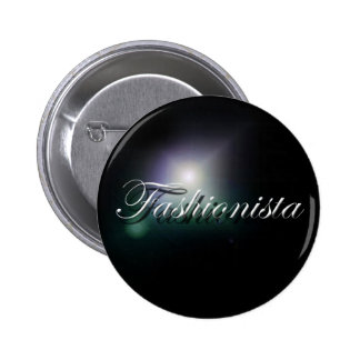 """Fashionista"" slogan badge"