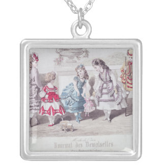 Fashions for Girls, from 'Journal des Silver Plated Necklace