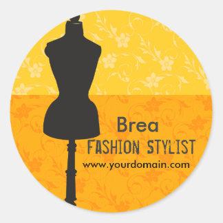 Fashions Stylist Seamstress Round Sticker