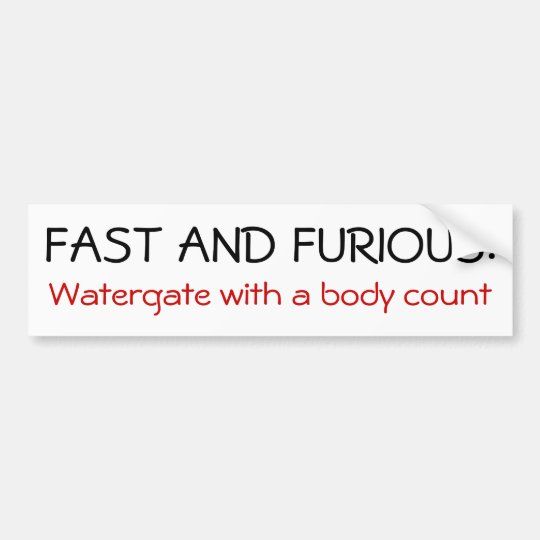 Fast and Furious Bumper Sticker
