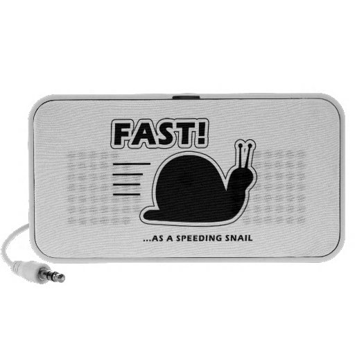 Fast as a speeding snail portable speakers