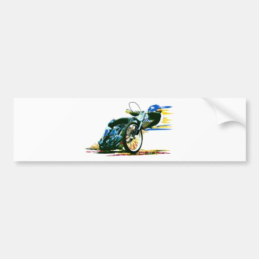 Fast Awesome Speedway Motorcycle Bumper Sticker