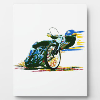 Fast Awesome Speedway Motorcycle Display Plaques
