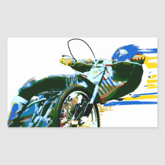 Fast Awesome Speedway Motorcycle Rectangular Stickers