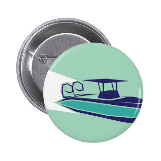 Fast boat Vector 6 Cm Round Badge