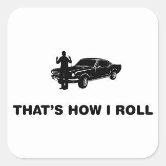 Fast Car Lover Square Sticker