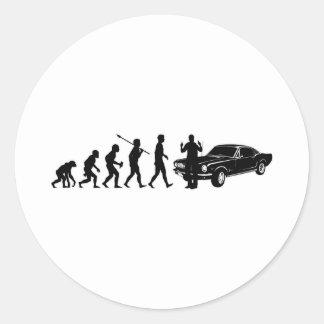 Fast Car Lover Round Sticker