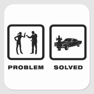 Fast Car Lover Square Stickers