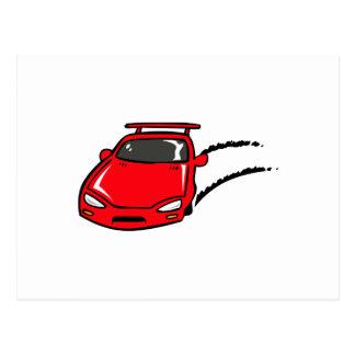 FAST CAR SKID POSTCARD