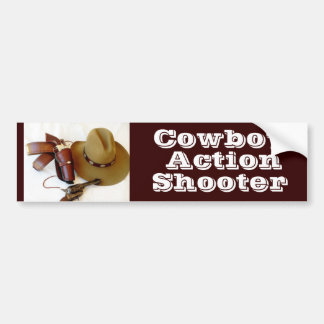 Fast Draw Cowboy Action Shooter Bumper Sticker Car Bumper Sticker