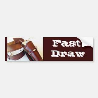 Fast Draw Cowboy Action Shooting Bumper Sticker
