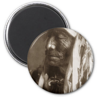 Fast Elk Hexaka Luzahan Native American Indian 6 Cm Round Magnet