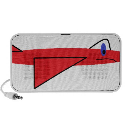 Fast-flying Flynn the Red Jet Airplane in Flight PC Speakers