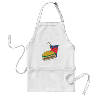 fast food burger and soft drink standard apron