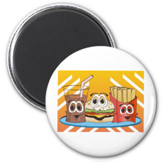 Fast Food Cartoon 6 Cm Round Magnet