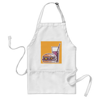 Fast Food Cheeseburger and Drink Standard Apron