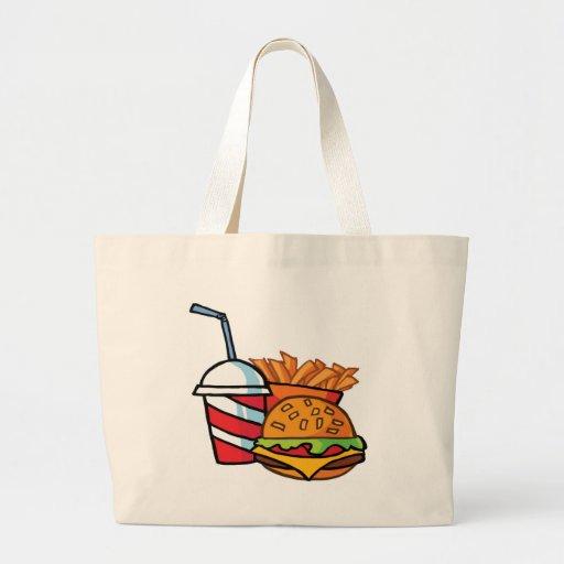 Fast Food Cheeseburger Tote Bag
