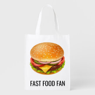 Fast Food Fan Reusable Grocery Bag