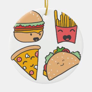 fast food friends christmas ornament