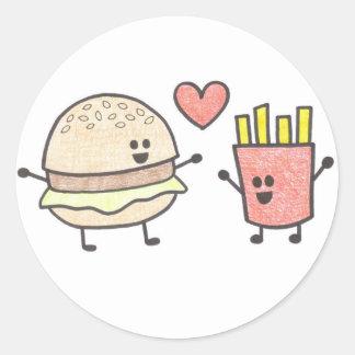 Fast Food Friends Classic Round Sticker