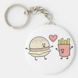 Fast Food Friends Keychain