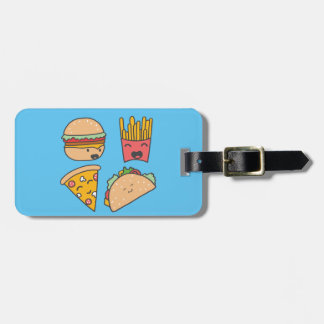 fast food friends luggage tag