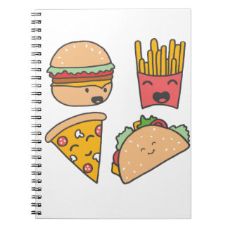 fast food friends notebooks