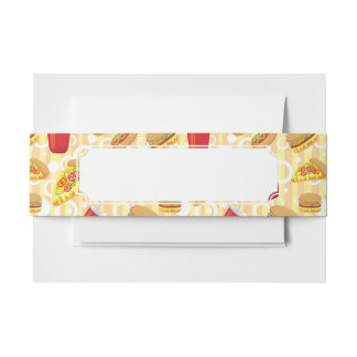 Fast Food Invitation Belly Band