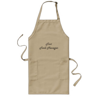 Fast Food Manager Classic Job Design Long Apron