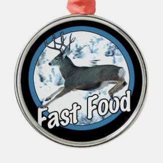 Fast Food Mule Deer Christmas Ornament