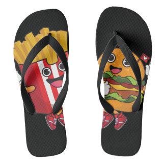 Fast food party flip flops