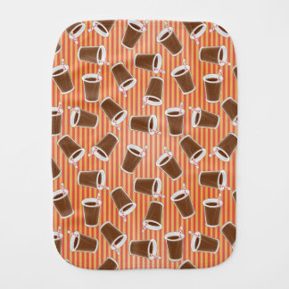 Fast food pattern 2 baby burp cloth