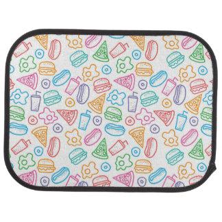 Fast food pattern 2 car mat