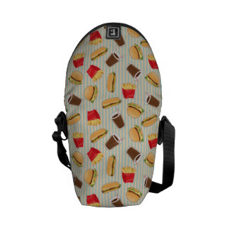 Fast Food Pattern 2 Courier Bag