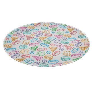 Fast food pattern 2 cutting board