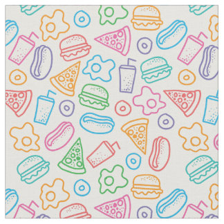 Fast food pattern 2 fabric