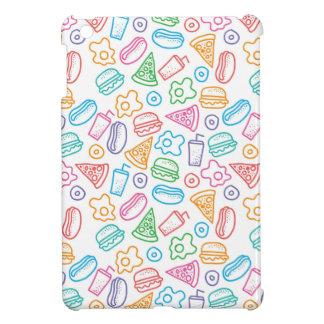 Fast food pattern 2 iPad mini case