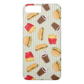Fast Food Pattern 2 iPhone 8 Plus/7 Plus Case
