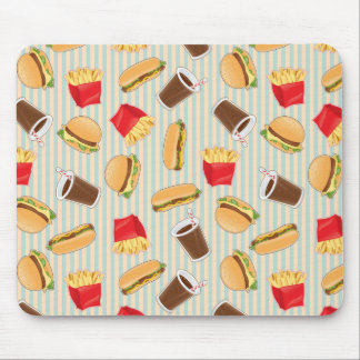 Fast Food Pattern 2 Mouse Mat