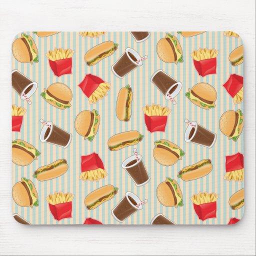 Fast Food Pattern 2 Mousepads