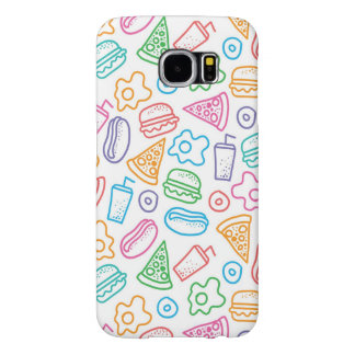 Fast food pattern 2 samsung galaxy s6 cases