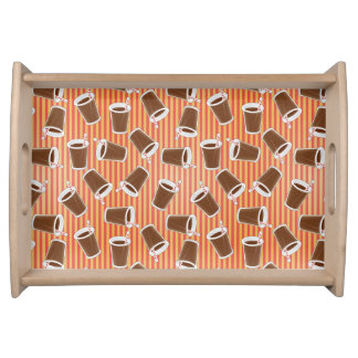 Fast food pattern 2 serving tray
