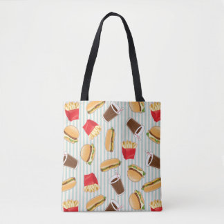Fast Food Pattern 2 Tote Bag
