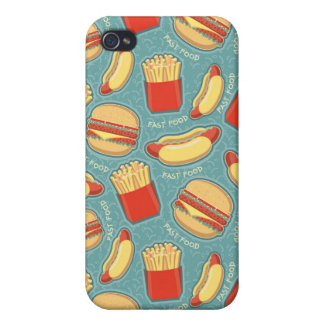 Fast Food Pattern 3 iPhone 4/4S Cover