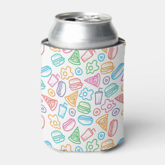Fast food pattern can cooler