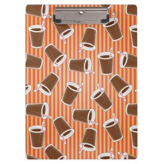 Fast food pattern clipboard